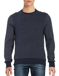 Ben Sherman Contrast Crewneck Sweater Blue