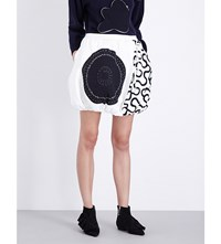 J.W.Anderson Jw Anderson Quilted Balloon Georgette Skirt White Black