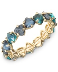 Lonna And Lilly Gold Tone Blue Stone Stretch Bracelet Blue Green