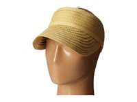 Lauren Ralph Lauren Braided Straw Visor Tan Caps