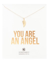 Dogeared You Are An Angel Wing Charm Pendant Necklace Gold