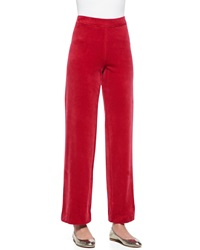 Joan Vass Solid Velour Pants Women's