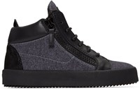 Giuseppe Zanotti Grey London High Top Sneakers