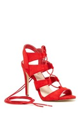 Liliana Toni Lace Up Sandal Red