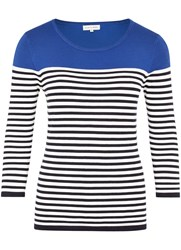 Austin Reed Colour Block Stripe Jumper Navy