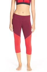 Alo Yoga Women's Alo 'Electra' Capri Leggings Deep Plum Ruby Red
