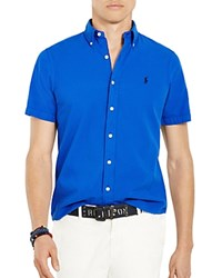 Polo Ralph Lauren Seersucker Relaxed Fit Button Down Shirt Cruise Royal