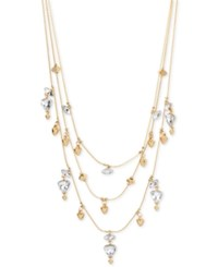 Inc International Concepts Gold Tone Crystal Triple Strand Necklace Only At Macy's