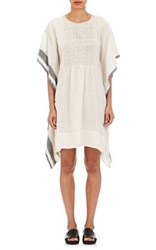 Pero Women's Kaftan Wool Twill Dress White