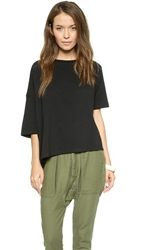 Oak Drop Shoulder Tee Black
