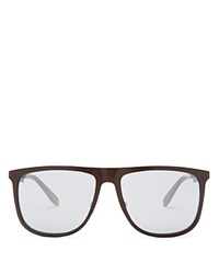 Carrera Metal Flat Top Wayfarer Sunglasses Matte Dark Brown
