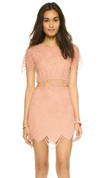 For Love And Lemons Luna Crop Top Pale Blush