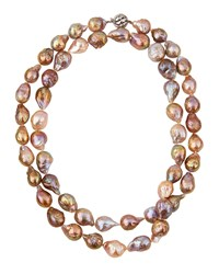 Belpearl Long 14K Multicolor Baroque Freshwater Pearl Necklace Women's