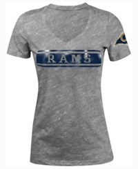 5Th And Ocean Women's Los Angeles Rams Touchback Le T Shirt Gray