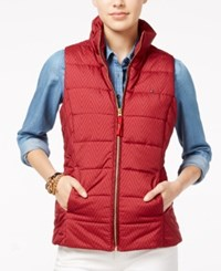 Tommy Hilfiger Printed Puffer Vest Sonoma Red