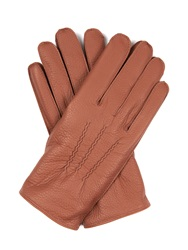 Dents Eton Cashmere Knit Lined Leather Gloves