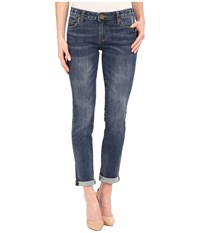 Kut From The Kloth Catherine Boyfriend Jeans In Worldly W Medium Base Wash Worldly Medium Base Wash Women's Jeans Blue