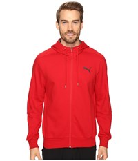 Puma Hero Full Zip Fleece Hoodie Barbados Cherry Men's Sweatshirt Red