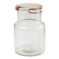 Clear 16Cm Glass Jar With Copper Lid Kitchenware Kitchen And Dining Department The Conran Shop