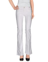 Kiltie Denim Denim Trousers Women White