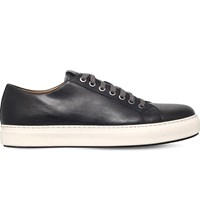 Magnanni Tennis Leather Trainers Grey