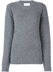 Christian Wijnants Patterned Knit Sweater Grey