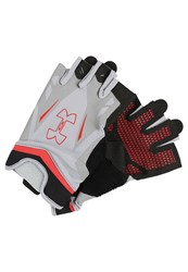 Under Armour Flux Fingerless Gloves Steel Red Grey