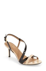 Calvin Klein Women's 'Lorren' Leather Sandal 2 3 4 Heel