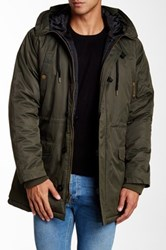 Yoki Hooded Military Parka Green