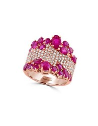 Effy Amore 1.12 Tcw Diamond Ruby And 14K Rose Gold Ring