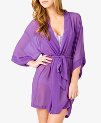 Forever 21 Chiffon Sleep Robe Purple