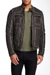 Rogue Quilted Moto Jacket Gray