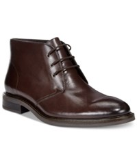 Alfani Men's Lombard Plain Toe Chukka Boots Only At Macy's Men's Shoes Brown