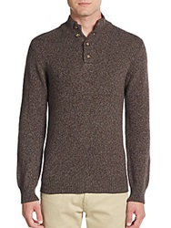 Saks Fifth Avenue Cashmere And Wool Pullover Sweater Grey