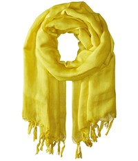 Love Quotes Linen Tassel Scarf Antique Moss Scarves Yellow