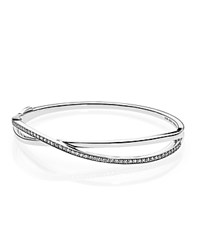 Pandora Design Bracelet Sterling Silver And Cubic Zirconia Entwined Moments Collection