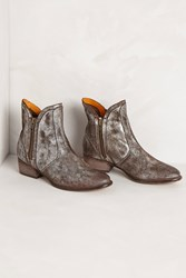 Anthropologie Seychelles Lucky Penny Booties Silver
