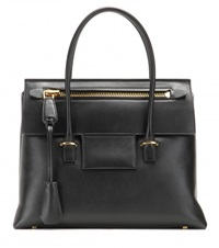 Tom Ford Icon Medium Leather Tote Black