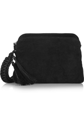 The Row Wristlet Suede Clutch