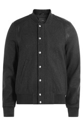 Iro Wool Bomber Jacket With Leather Grey