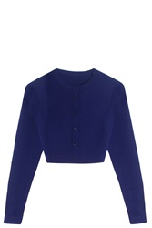 Azzedine Alaia Crop Cardigan Purple