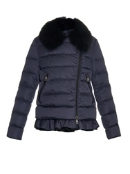 Moncler Chenonceau Asymmetric Quilted Down Jacket