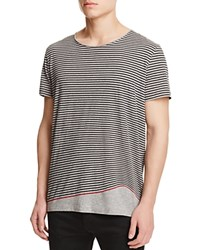 Hugo Boss Hugo Red Davings Stripe Tee Heather Grey Black Red