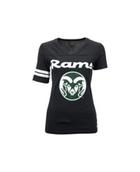 Soffe Women's Colorado State Rams Football T Shirt Black
