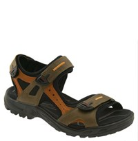 Men's Ecco 'Yucatan' Sandal Navajo Brown Terracotta Black