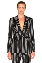 Givenchy Jacquard Stripe Blazer In Black Stripes Black Stripes