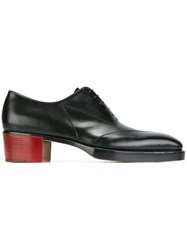 Walter Van Beirendonck Square Toe Lace Up Shoes Black