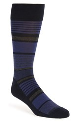 Nordstrom Men's Men's Shop Stripe Cotton Blend Socks Navy