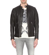 Diesel L Marton Leather Jacket Black