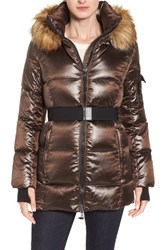 S13 Nyc Women's 'Nicky' Quilted Coat With Removable Faux Fur Trimmed Hood